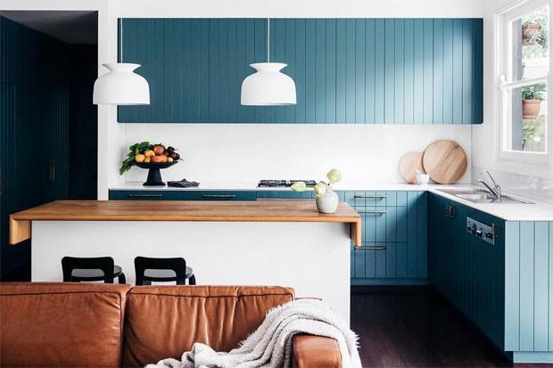 Décor do dia: cozinha em tons de azul (Foto: Felix Forest)