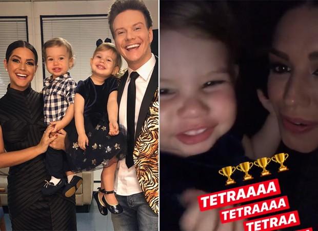 Thais Fersoza, Michel Teló, Melinda e Teodoro (Foto: Reprodução / Instagram)