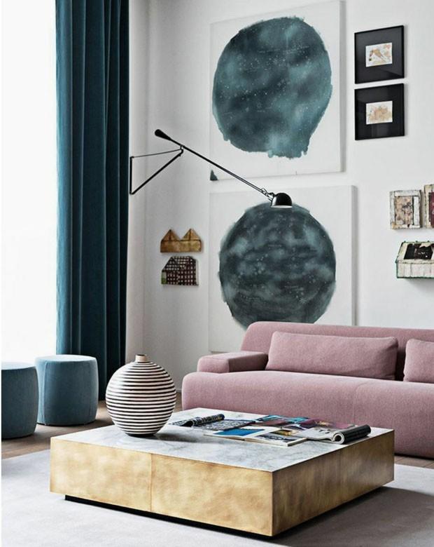 Décor do dia: sala de estar contemporânea e cores suaves (Foto: Reprodução/Divulgação)