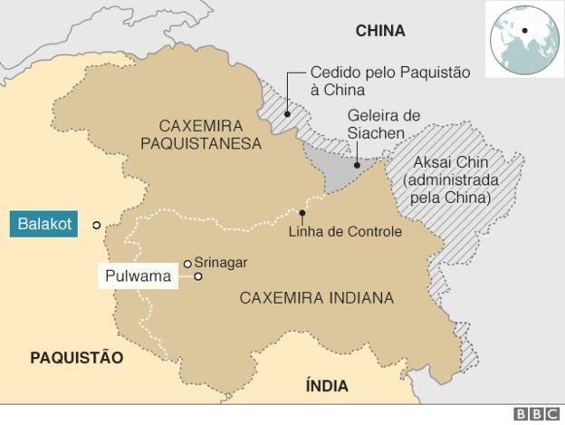 Mapa da região (Foto: BBC news Brasil)