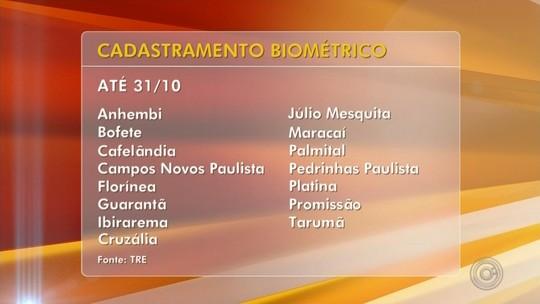 Eleitores de 15 cidades do Centro-Oeste Paulista devem fazer biometria até o final do mês