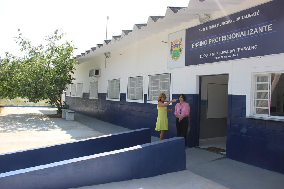 Escola do Trabalho Areão, em Taubaté (Foto: Divulgação/Prefeitura de Taubaté)