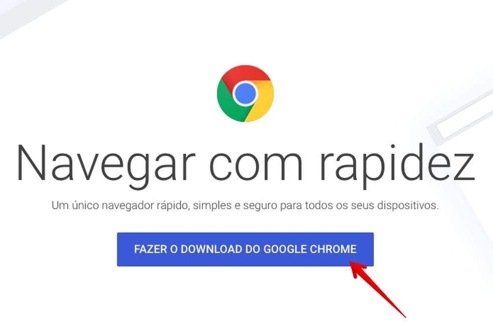 Baixe o instalador do Chrome (Foto: Reprodução/Helito Bijora)
