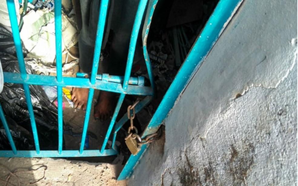 Local onde mulher era mantida em cárcere privado em bairro de Campinas (Foto: Polícia Militar/Divulgação)