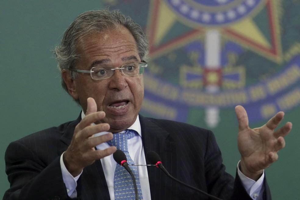 O ministro da Economia, Paulo Guedes — Foto: Eraldo Peres/AP