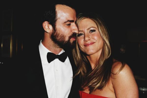 A atriz Jennifer Aniston e seu marido, o ator Justin Theroux (Foto: Instagram)