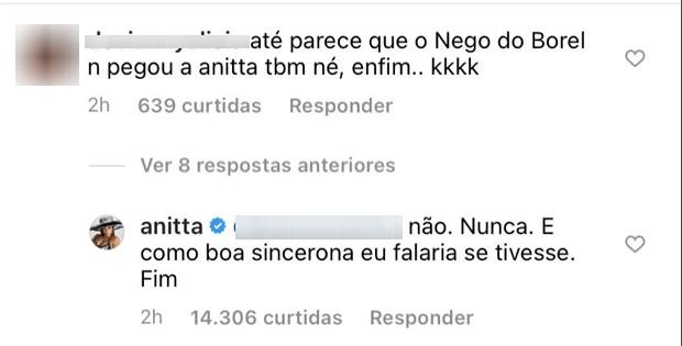 Publicação de Anitta (Foto: Reprodução/Instagram)