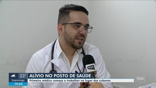 Substituto dos cubanos do Mais Médicos em SC começa a trabalhar em Navegantes