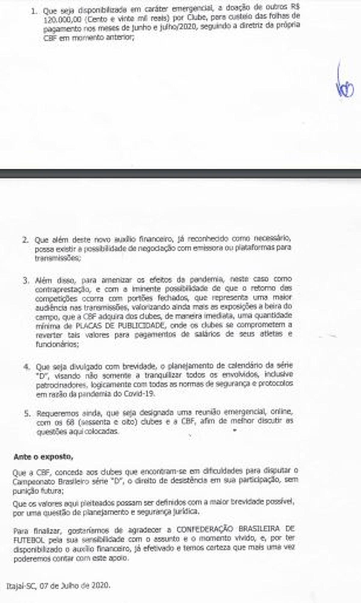 Com Novo Calendario Clubes Da Serie D Pedem R 120 Mil Para Salarios E Desistencia Sem Punicao Brasileirao Serie D Ge