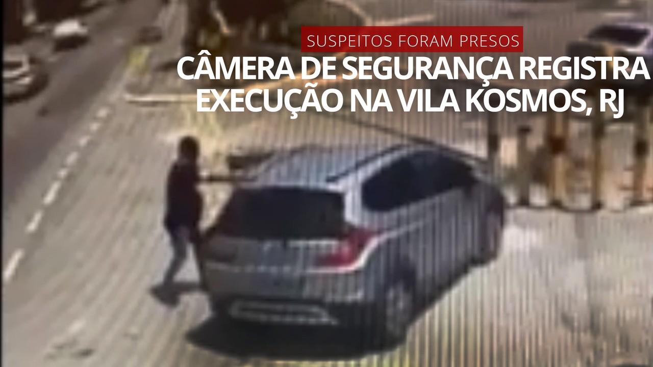 Câmera registra execução de empresário na Vila Kosmos; suspeitos foram presos