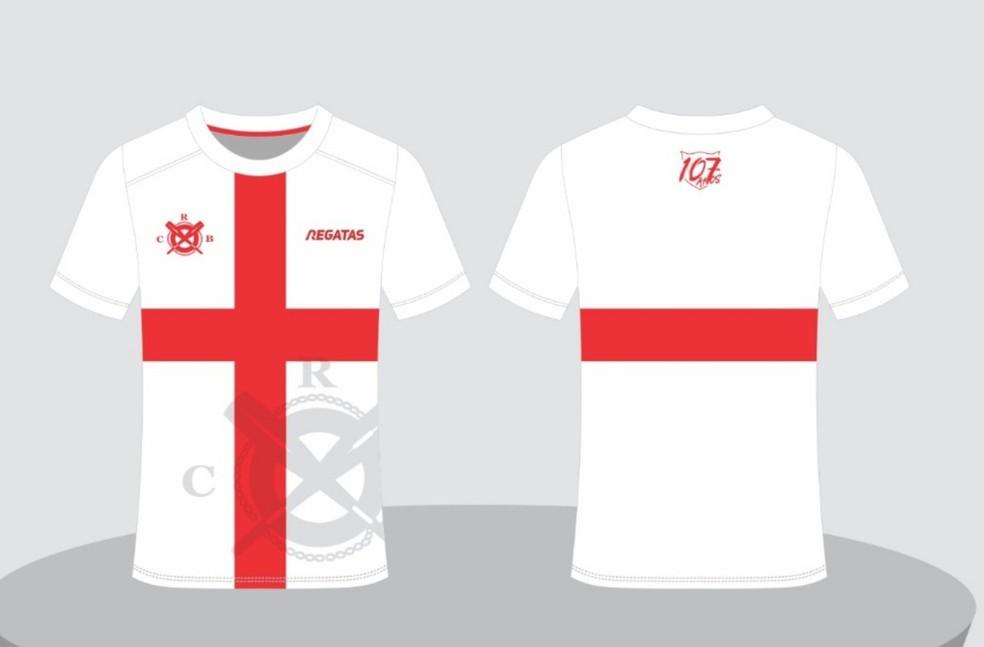 Camisa comemorativa dos 107 anos do CRB — Foto: Marketing/ CRB