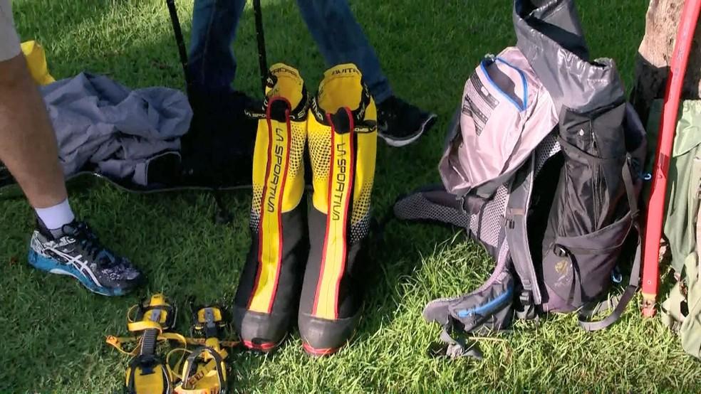 Empresários investem em equipamentos para enfrentar frio de montanha — Foto: Reprodução/ TV Gazeta