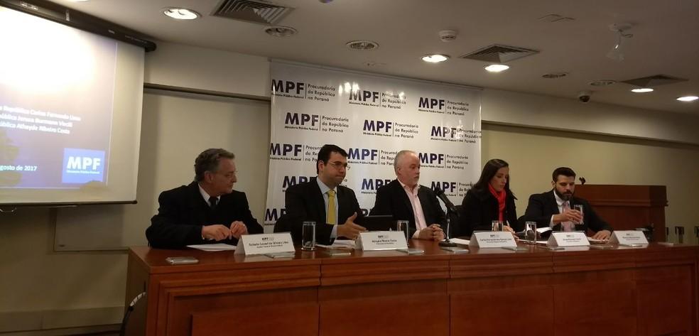 Coletiva do MPF detalha denuncia contra Bendine (Foto: Thais Kaniak/G1)