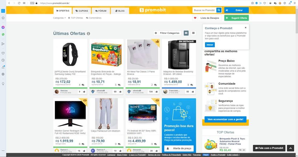 Promoções no Promobit são cadastradas pelos próprios usuários — Foto: Reprodução/Filipe Garrett