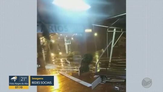 Chuva forte provoca queda de árvores e de energia elétrica na região de Ribeirão Preto