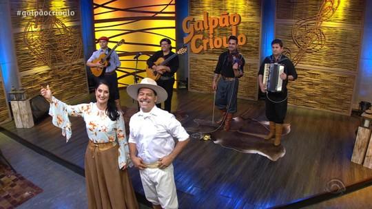 Lucio Yanel, Luiz Cardosos & Grupo Sinfonia Gaúcha foram convidados do 'Galpão Crioulo'; confira os vídeos