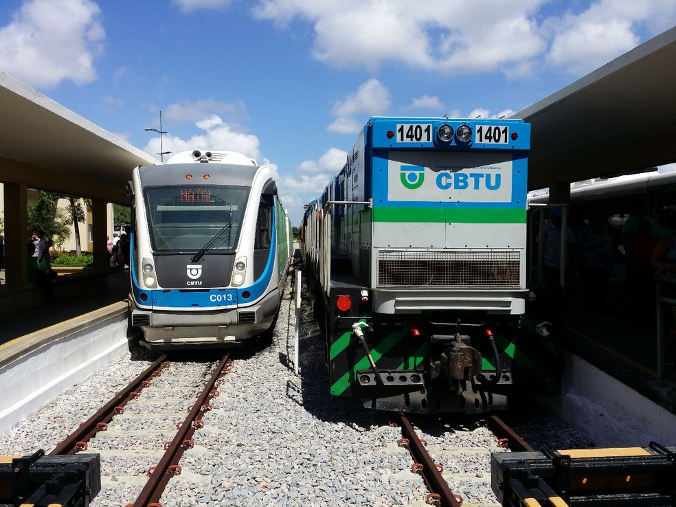 Trilhos serão trocados em trecho de encontro com a BR-101 — Foto: CBTU/Divulgação