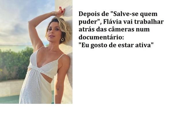 Flávia vai tocar novo projeto na agência que tem com Otaviano Costa (Foto: Reprodução)