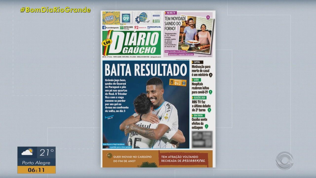 Confira as capas dos principais jornais desta sexta-feira (27)