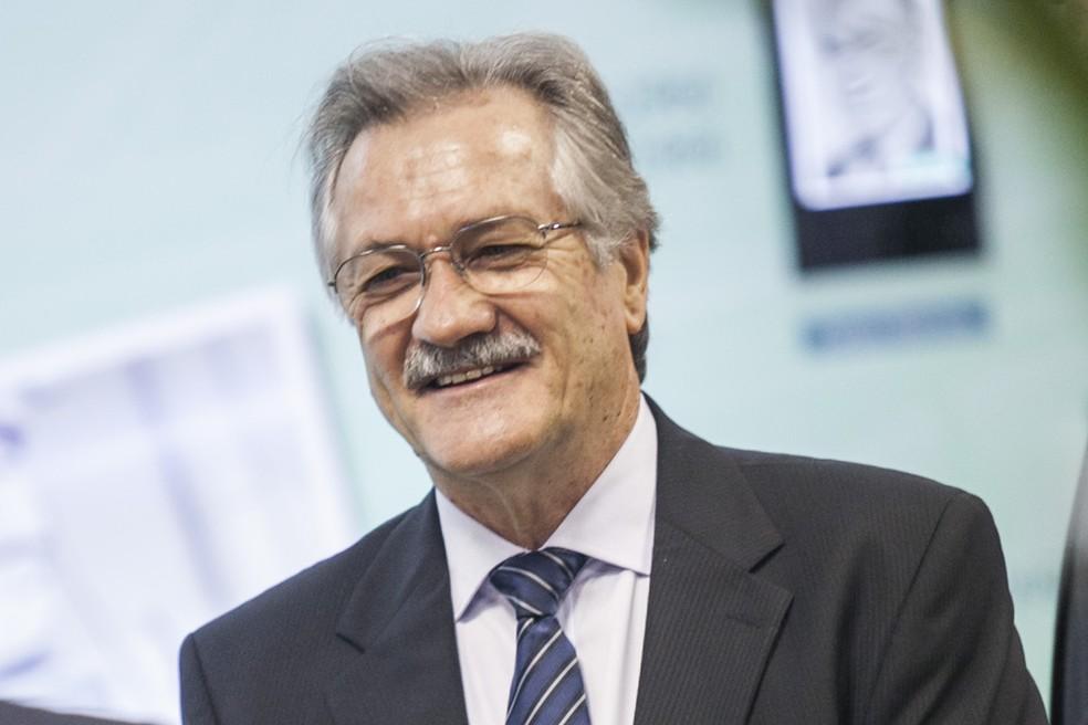 Mário em 2015 na Fiesc  — Foto: Marcos Campos/Divulgação