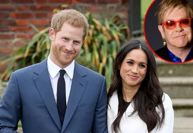 Harry e Meghan Markle terão a presença de Elton John no casamento  (Foto: Getty Images)
