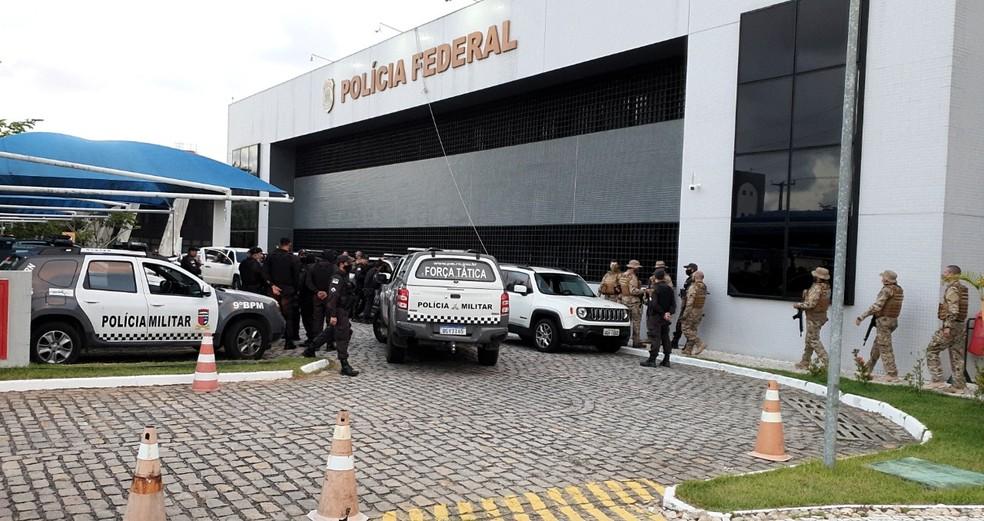 PF cumpre mandados no RN e na Bahia em operação de combate a roubos de agências dos Correios, bancos e carros-fortes — Foto: Polícia Federal/Divulgação