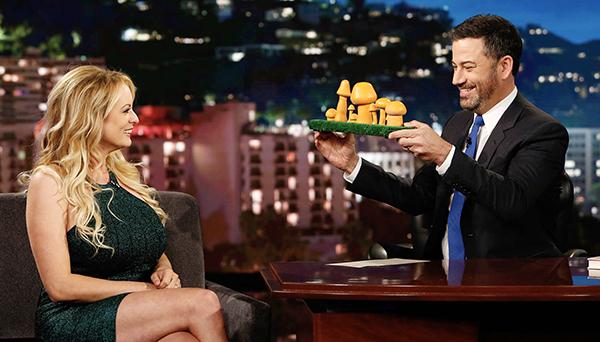 Stormy Daniels e Jimmy Kimmel (Foto: Reprodução)