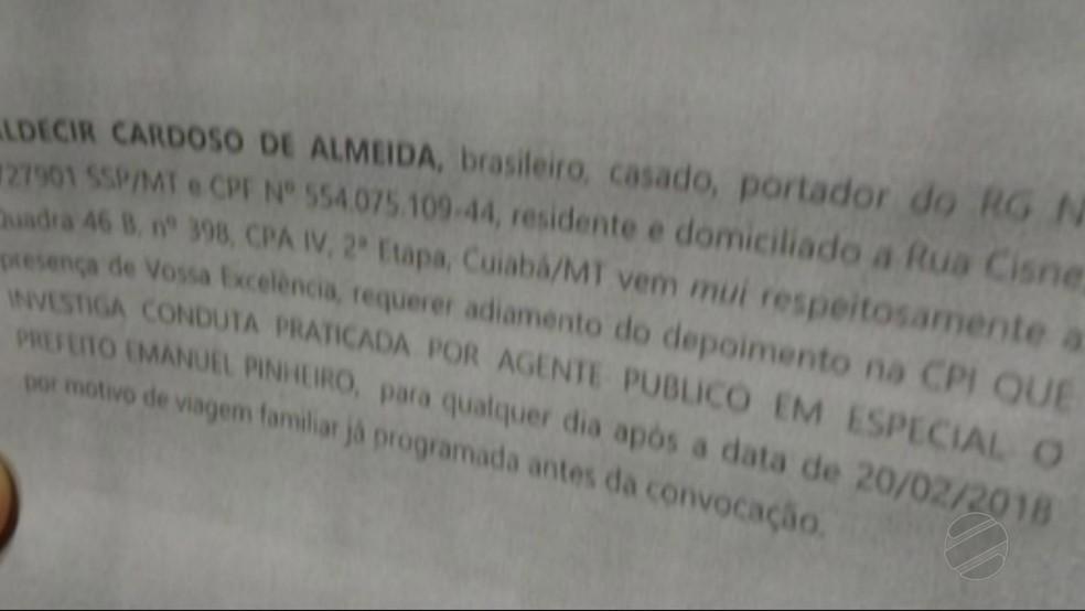 Servidor enviou ofício justificando ausência em oitiva (Foto: TVCA/Reprodução)