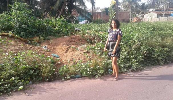 Francielly em Moju, cidade a 120 km de Belém do Pará (Foto: Divulgação)