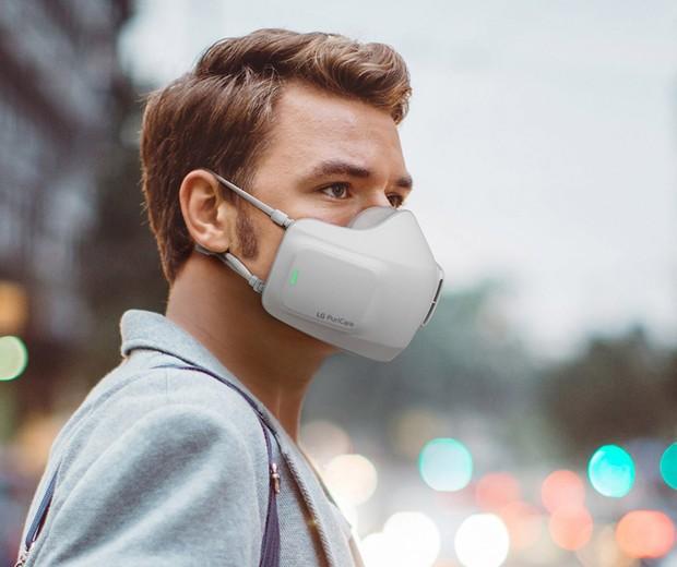 LG cria máscara recarregável que purifica o ar (Foto: Divulgação)
