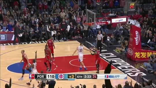 Griffin e Paul comandam as ações, e Clippers vencem Blazers na emoção