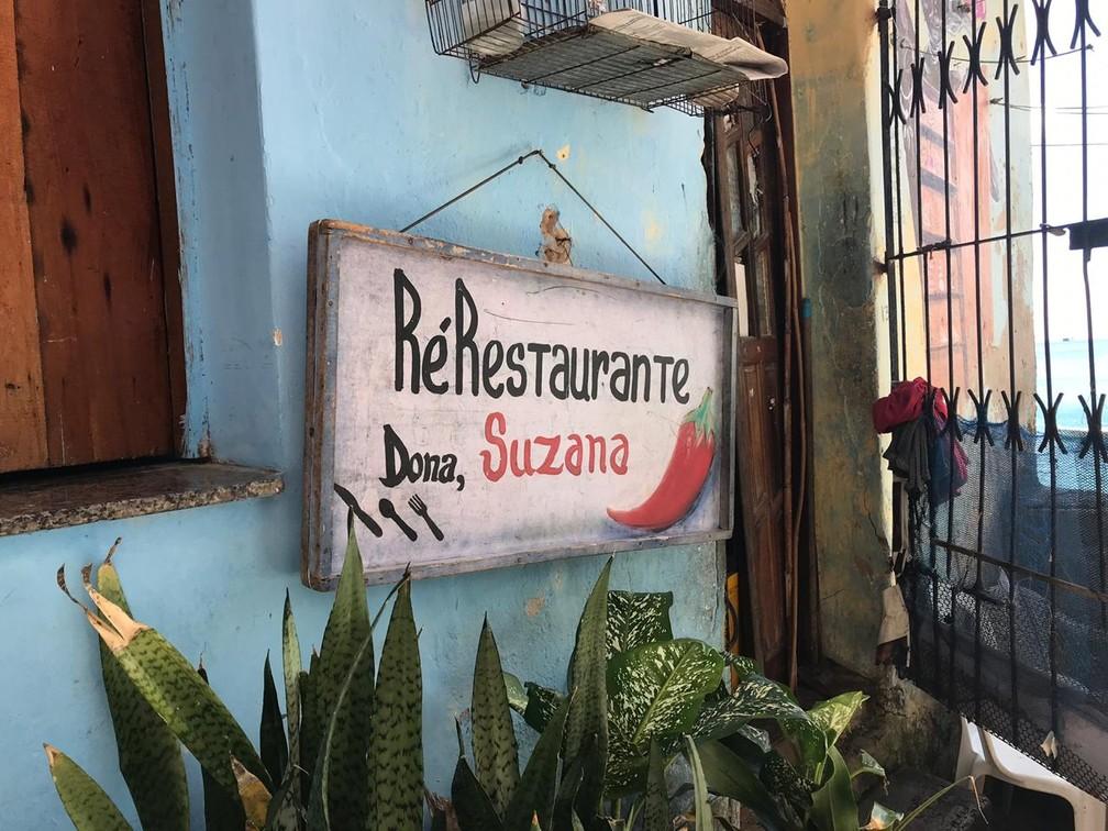 Restaurante de Dona Suzana é parada obrigatória na Gamboa — Foto: Itana Alencar/G1