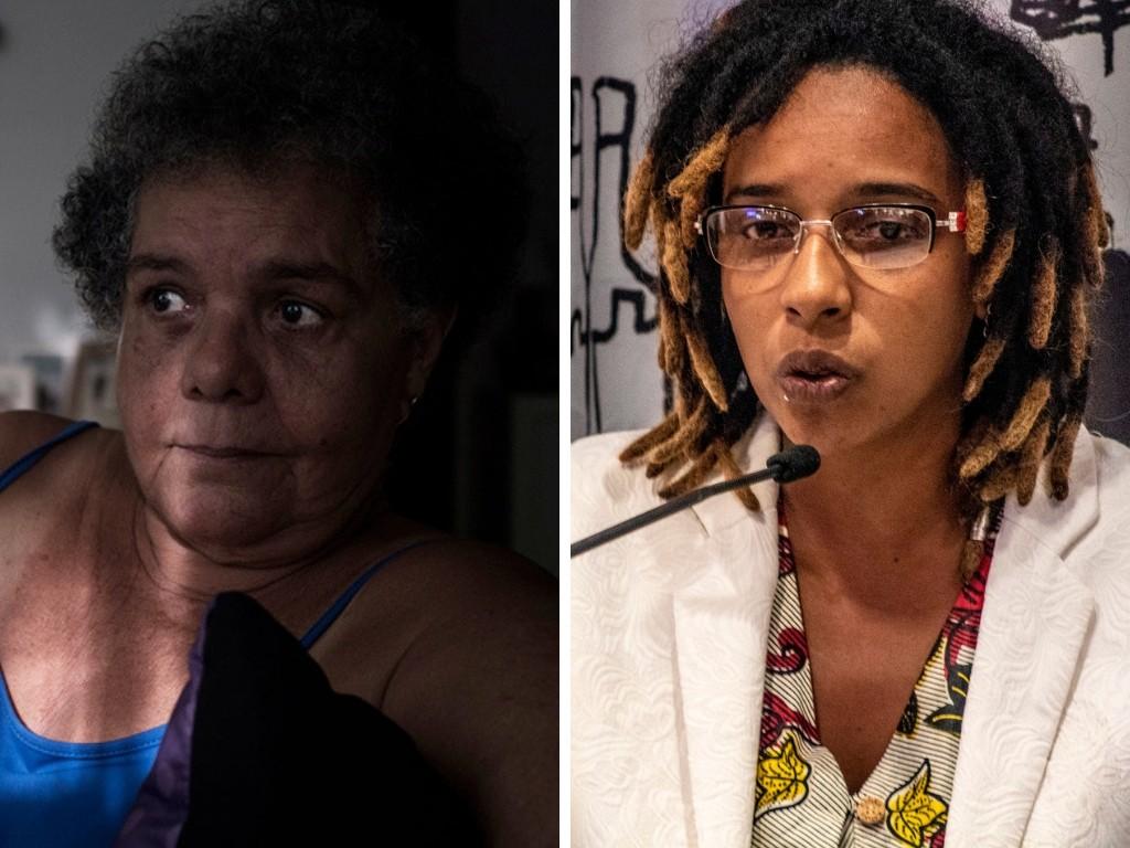Adélia Sampaio e Camila de Moraes (Foto: Fotos: Isabella Lanave/R.U.A Foto Coletivo/Divulgação| Alf Ribeiro/Divulgação | Montagem: Galileu)