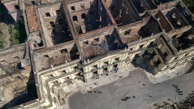 Destruição do Museu Nacional foi quase completa (Foto: Imagem AFP)