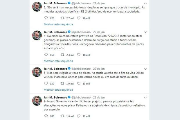 Tweet Bolsonaro (Foto: Reprodução Internet)