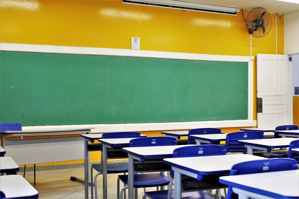 Salas de colégios públicos paranaenses não recebem alunos para aulas desde março de 2020 — Foto: Divulgação/Seed