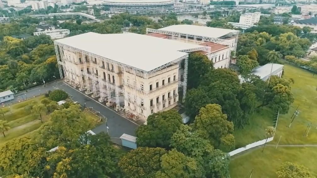As obras de recuperação do Museu Nacional devem começar em abril — Foto: Reprodução/TV Globo