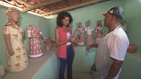 Família é reconhecida prla produção de bonecos de barro no Vale do Jequitinhonha