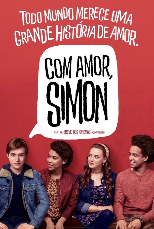 Pôster de Com Amor, Simon (Foto: Divulgação)