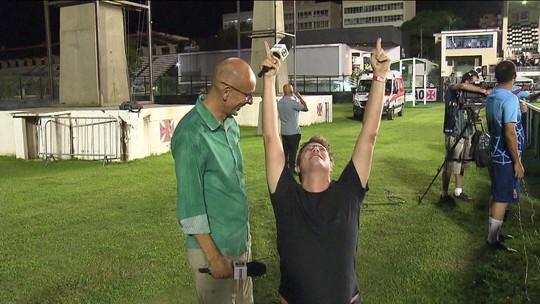 """Fábio Porchat se torna Régis Rösing por um dia e lamenta derrota do Vasco: """"Não sou pé-quente"""""""