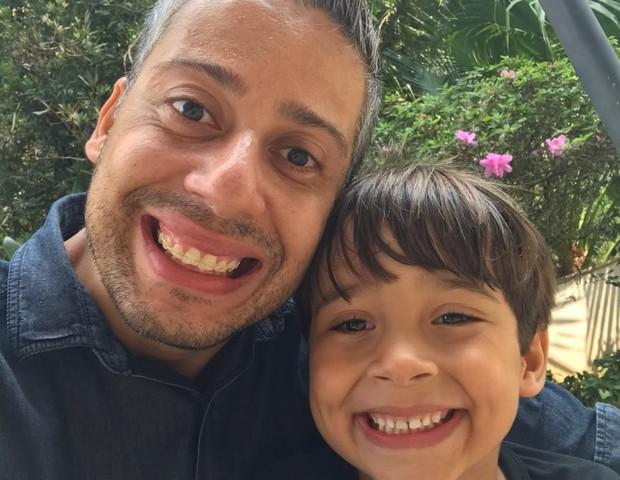 Bruno é quem fez o desfralde do filho Samuel, hoje com 5 anos (Foto: Arquivo pessoal)