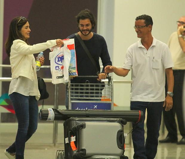 Fátima Bernardes e Túlio Gadêlha (Foto: Agnews)