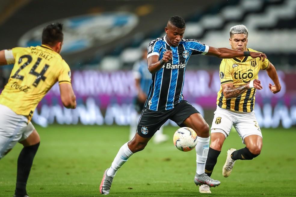 Orejuela deve ficar no Grêmio — Foto: Lucas Uebel/Grêmio FBPA