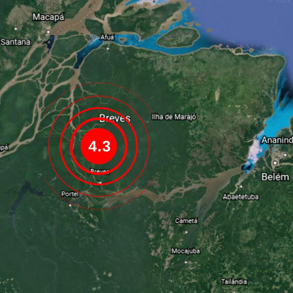 Tremor de terra é sentido em Breves, no Marajó