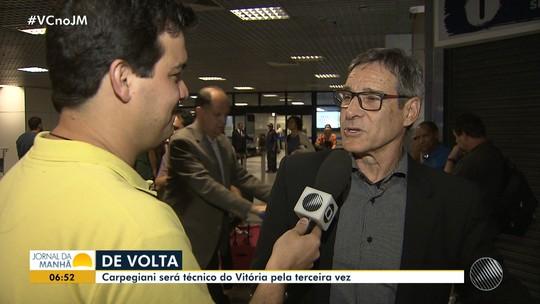 Carpegiani fala em recuperar elenco na chegada a Salvador
