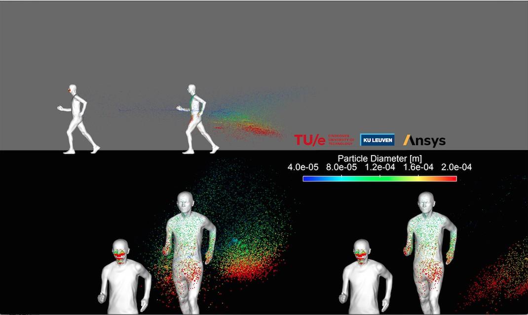 Simulação alerta que praticantes de atividades físicas ao ar livre deixam 'rastro' de gotículas capazes de transmitir vírus
