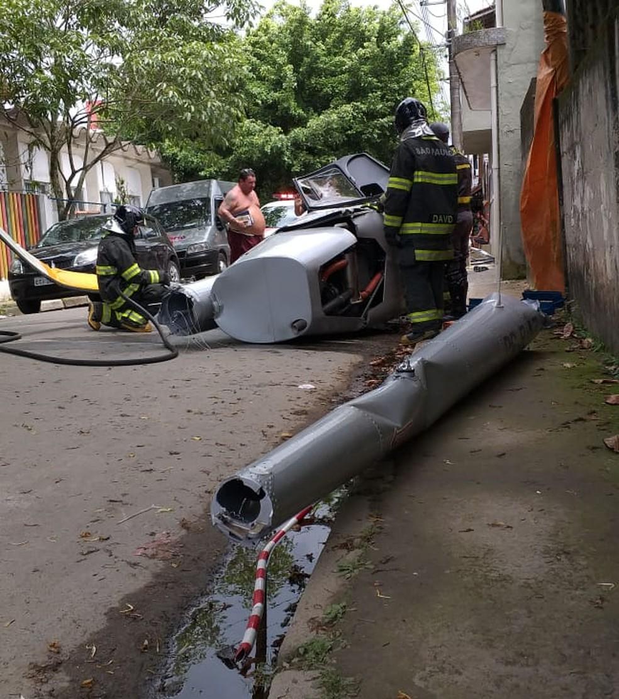 Вертолет падает и убивает пешехода в Убатубе, Ð?П - Фото: личный архив