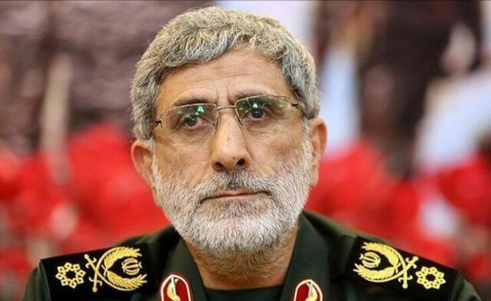 Esmail Qa'ani, o novo líder da força Quds do Irã — Foto: Khamenei.IR/AFP