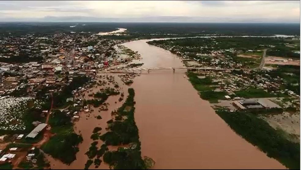 Prefeitura de Cruzeiro do Sul decretou estado de emergência nesta quinta-feira (7) — Foto: Reprodução