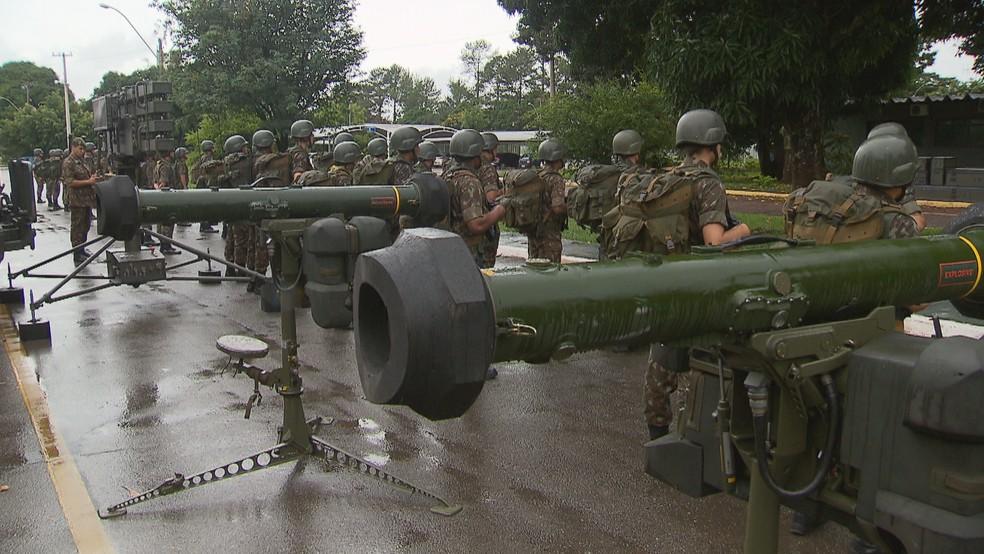 Artilharia aérea disponível para a posse de Jair Bolsonaro (PSL) — Foto: TV Globo/Reprodução